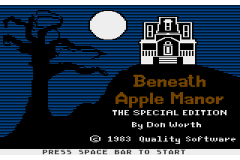 Beneath Apple Manor (1983) by Quality Software Atari 400 ...