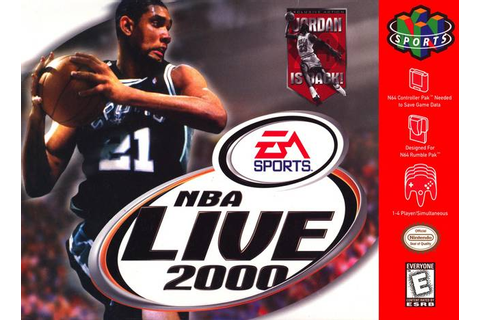 NBA Live 2000 Nintendo 64 Game