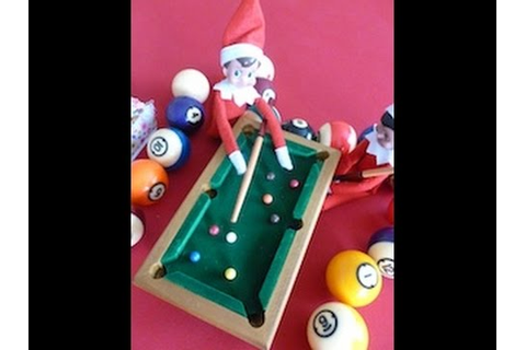 Elf on the Shelf caught in the act play POOL on family ...