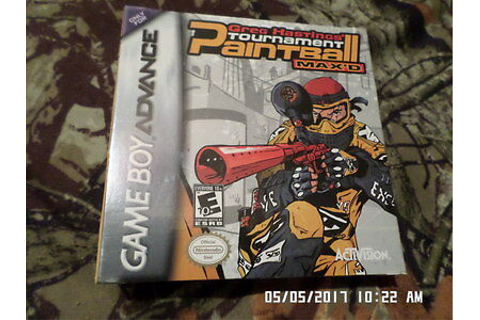 Greg Hastings Tournament Paintball Max 'D = NEW (Gameboy ...