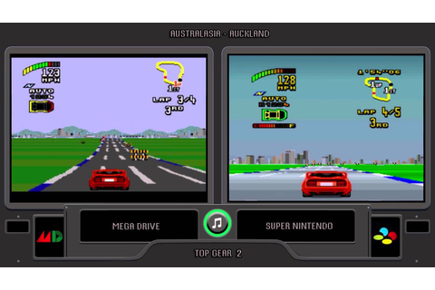 Top Gear 2 (Sega Genesis vs Snes) Side by Side ...