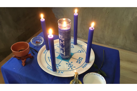 Kabbalistic Candle Magic using the Key of Solomon - YouTube