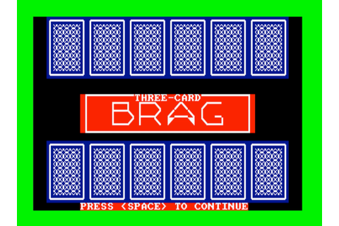 3 Card Brag (Amstrad Cassette 50 Game 24)