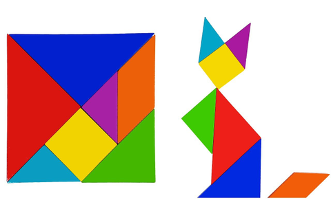 Learning Animals With Tangram Puzzle for Kids - Fun Easy ...
