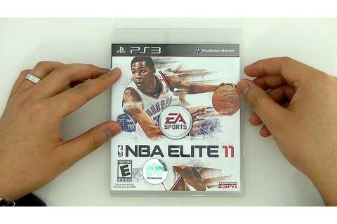 NBA Elite 11 Unboxing (PS3 Retail Copy) - YouTube