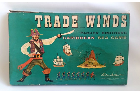 Vintage Trade Winds Board Game 1960 RARE Complete Pirate