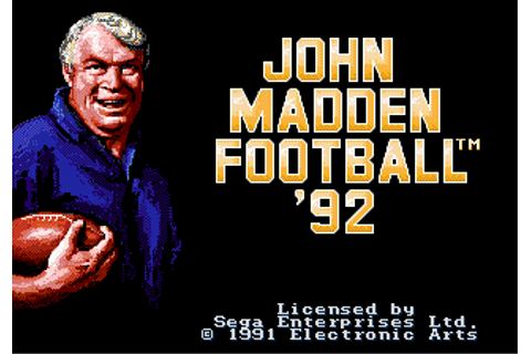 Play John Madden Football '92 Sega Genesis online | Play ...