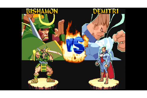 Night Warriors: Darkstalkers' Revenge (Arcade) - Bishamon ...