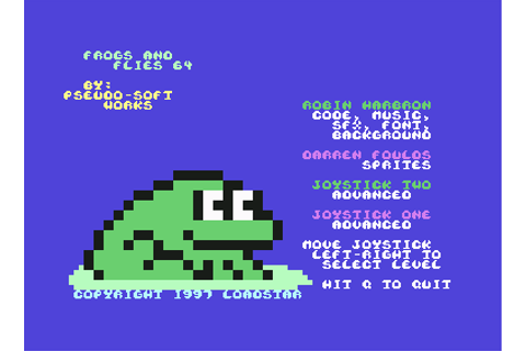 Download Frogs and Flies 64 (Commodore 64) - My Abandonware