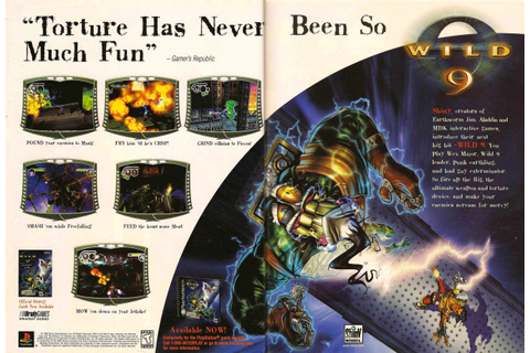 "Video Game Print Ads — ""Wild 9"" EGM, December 1998 (#113 ..."