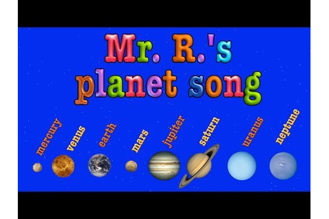 Planet Song- teach the order of the planets! - YouTube