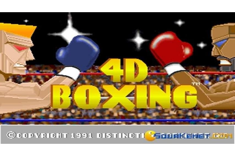 4D Sports Boxing gameplay (PC Game, 1991) - YouTube