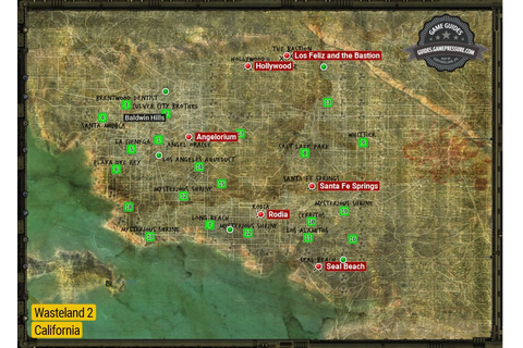 California | World Maps - Wasteland 2 Game Guide ...