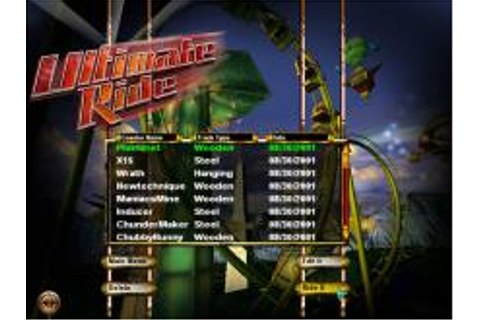 Ultimate Ride Download (2001 Simulation Game)