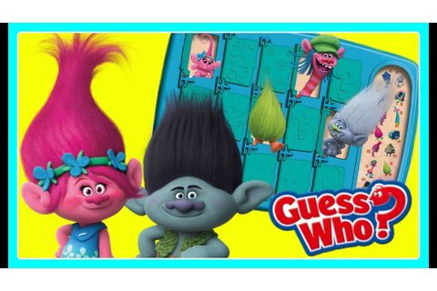 TROLLS Guess Who GAME! NEW Hasbro Toys! Guess Who ...