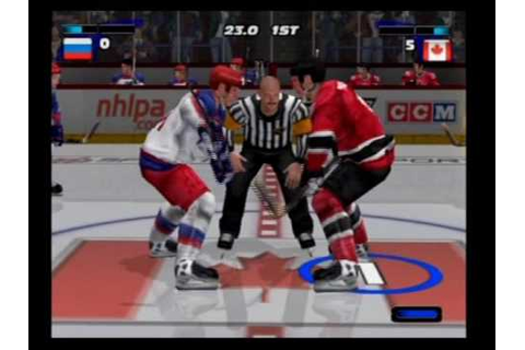 NHL HITZ 2003 Game Play Canada VS Russia - YouTube