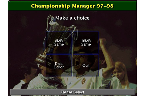 Download Championship Manager: Season 97/98 sports for DOS ...