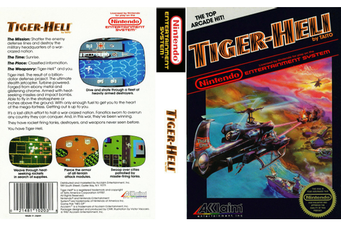 it8Bit — NES Box Art: Tiger-Heli Tiger-Heli. The result of...
