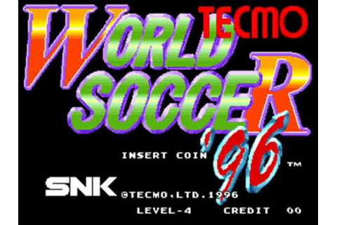 Tecmo World Soccer '96 Arcade Title Music - YouTube