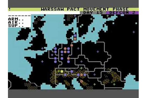 Theatre Europe cold war game on c64 #map #c64 #europe # ...