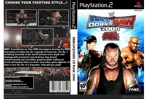 WWE SmackDown! vs. RAW 2008 PlayStation 2 Box Art Cover by ...