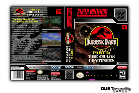 Jurassic Park Part 2: The Chaos Continues SNES Super ...