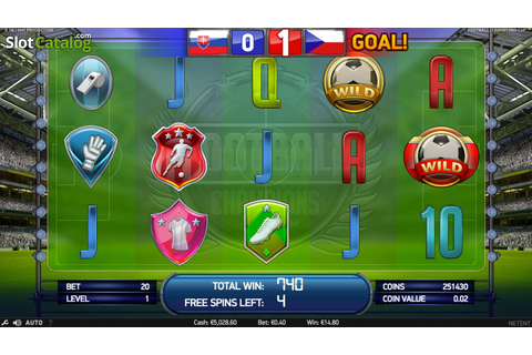 Review of Football: Champions Cup (Video Slot from NetEnt ...