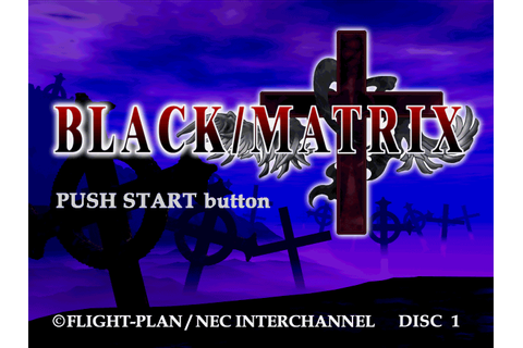 Black/Matrix Cross (2000) by Flight-Plan PS game