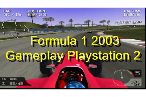 Formula 1 2003 Gameplay PS2 - YouTube