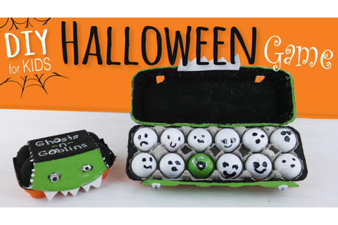 Easy DIY | Halloween Party Game for Kids | Egg Carton ...