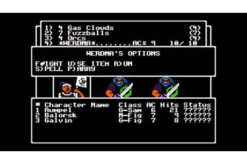 Wizardry: The Return of Werdna for the Apple II - YouTube