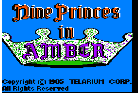 Nine Princes In Amber (1985) by Telarium Apple II E game