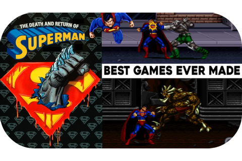 The Death and Return of Superman (SNES) Gameplay ...