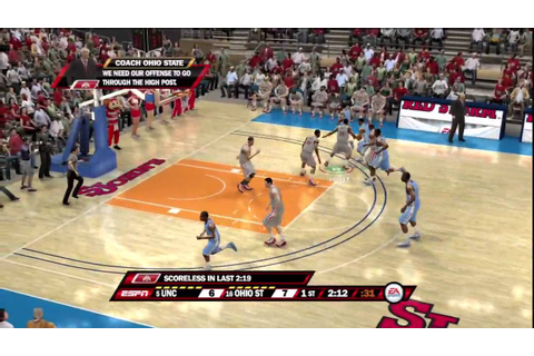 NCAA Basketball 10 (PS3) North Carolina vs. Ohio State ...