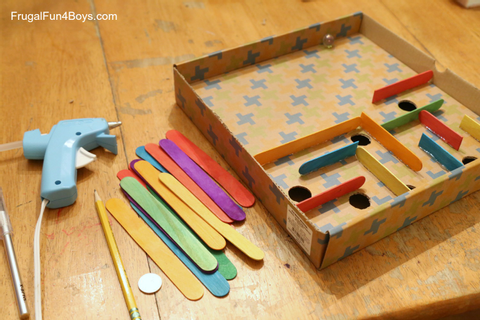 How to Make a Cardboard Box Marble Labyrinth Game - Frugal ...