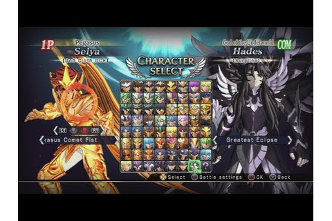 Saint Seiya: Brave Soldiers All Characters (Including DLC ...