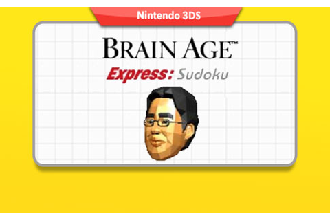 Brain Age Express: Sudoku available on Club Nintendo as ...