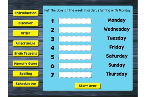 Smartboard Days of the Week Games by Drag Drop Learning ...