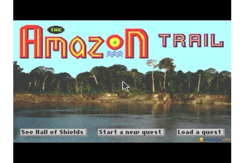 The Amazon Trail gameplay (PC Game, 1993) - YouTube