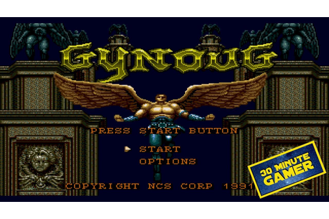 Gynoug Sega Megadrive Gameplay & Commentary - YouTube