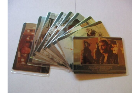 Game of Thrones Season 7 Complete 9 Card Valyrian Steel ...