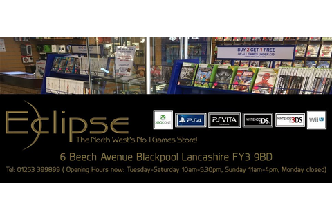 Eclipse Video Games | Thornton Cleveleys | Blackpool