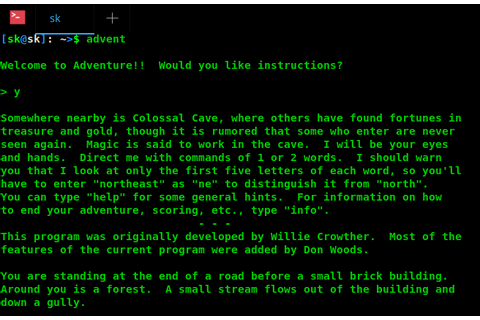Colossal Cave Adventure - The Most Famous Classic Text ...