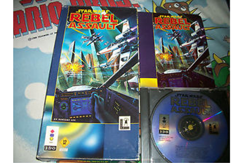 Star Wars Rebel Assault 3DO Video Game Complete w/ Box and ...