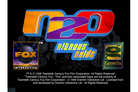 N2O - Nitrous Oxide for Sony Playstation - The Video Games ...