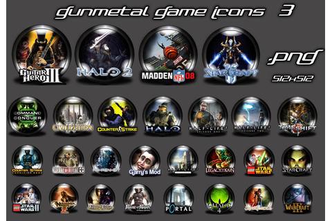 Gunmetal Game Icons 3 by Shortie111 on DeviantArt