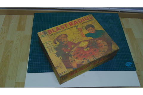 BLAST RADIUS Fictitious board game from Fallout 4... - 1991