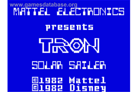 TRON: Solar Sailer - Mattel Intellivision - Games Database