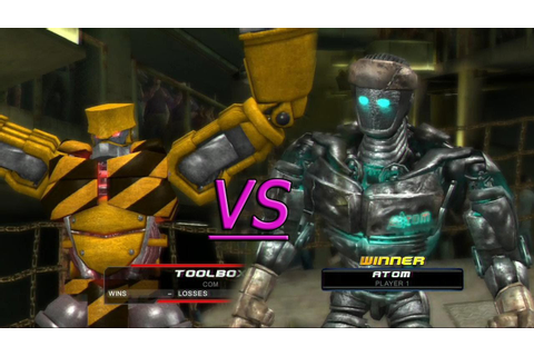 Real steel the video game Xbox/PS3(Atom vs Toolbox) - YouTube