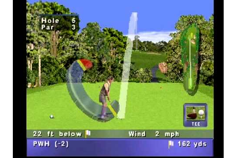 PGA Tour '98 -- Playstation PS1 -- Gameplay - YouTube